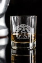 Стакан для виски с вашим текстом Джентльмен клаб