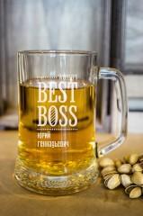 Пивная кружка с вашим текстом «Best Boss»