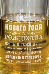 Пивная кружка с вашим текстом Новогоднее послание