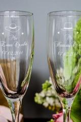 Набор бокалов для шампанского с вашим текстом Mr & Mrs Y