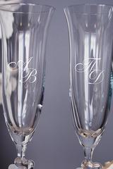 Набор свадебных бокалов с вашим текстом Инициалы