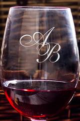 Бокал для красного вина с именной гравировкой Инициалы