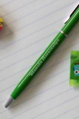 Ручка с нанесением текста Яркие краски