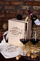 Набор бокалов подарочный с именной гравировкой Счастья в новом году