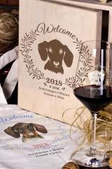 Набор бокалов подарочный с именной гравировкой Год собаки