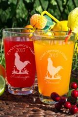 Набор бокалов для лимонада с Вашим именем Кантри год