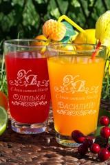 Набор бокалов для лимонада с Вашим именем ХВ