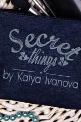 Косметичка джинсовая с Вашим именем Secret things