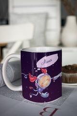 Кружка с вашим текстом «Космонавты»