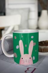Кружка с вашим текстом «Пасхальный кролик»