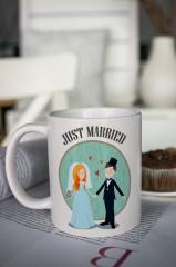Кружка с вашим текстом «Just Married»