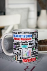 Кружка с вашим текстом Подарок маркетологу