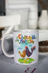 Кружка с вашим текстом «Пасхальные цыплята»