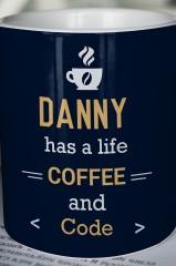 Кружка с вашим текстом Life and coffee
