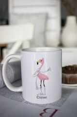 Кружка с вашим текстом Фламинго