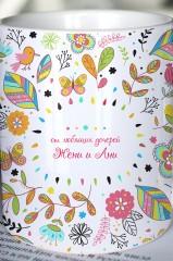 Кружка с вашим текстом Любимой маме