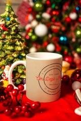 Кружка с вашим текстом Печать Деда Мороза