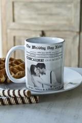 Кружка с вашим текстом «Свадебная газета»