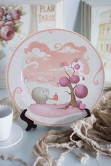 Тарелка декоративная с вашим текстом «Слон и подарки»