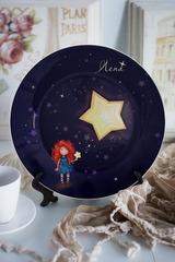 Тарелка декоративная с вашим текстом «Цветы»