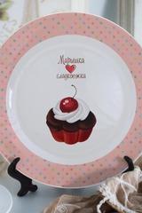 Тарелка декоративная с вашим текстом Сладкоежка