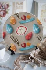 Тарелка декоративная с вашим текстом Пасха