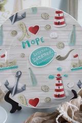 Тарелка декоративная с вашим текстом Море