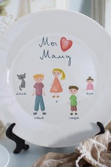 Тарелка декоративная с вашим текстом Дружная семья