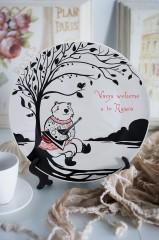 Тарелка декоративная с вашим текстом «У дерева»