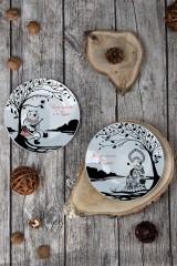 Тарелка декоративная с вашим текстом У дерева