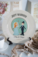 Тарелка декоративная с вашим текстом «Just Married»