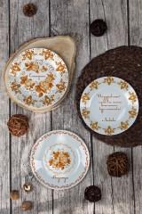 Тарелка декоративная с вашим текстом Осенние мотивы