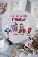 Тарелка декоративная с вашим текстом Семейка