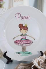 Тарелка декоративная с вашим текстом Балерина