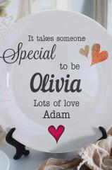 Тарелка декоративная с вашим текстом Someone Special