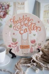 Тарелка декоративная с вашим текстом Happy Easter