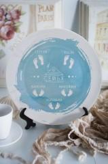 Тарелка декоративная с вашим текстом Моя любимая семья