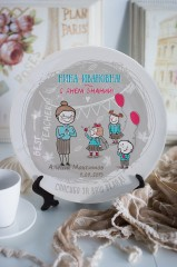 Тарелка декоративная с вашим текстом Любовь к знаниям