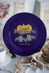 Тарелка декоративная с вашим текстом Sweet Halloween
