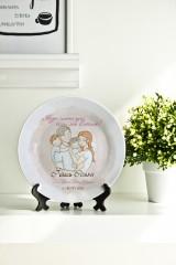 Тарелка декоративная с вашим текстом «С днем семьи»