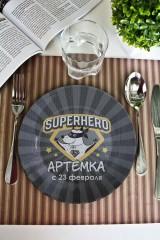 Тарелка декоративная с вашим текстом Супергерой