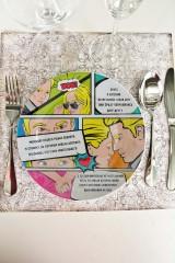 Тарелка декоративная с вашим текстом Комикс про любовь