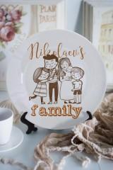 Тарелка декоративная с вашим текстом My family