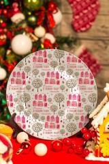 Тарелка декоративная с вашим текстом «Зимний город»