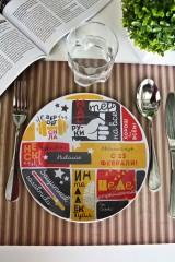 Тарелка декоративная с вашим текстом Несколько фактов