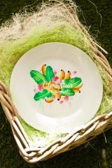 Тарелка декоративная с вашим текстом «Фруктовый букет»