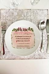 Тарелка декоративная с вашим текстом «Меню»