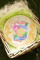 Тарелка декоративная с вашим текстом Милый кролик