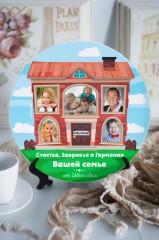Тарелка декоративная с вашим текстом Наш дом