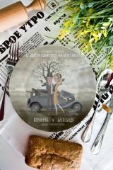 Тарелка декоративная с вашим текстом Бонни и Клайд